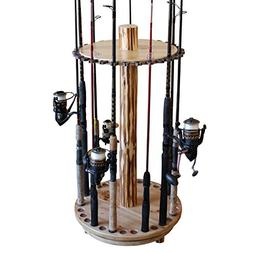 Rush Creek Creations Round Spinning 30 Fishing Rod Rack - Ea