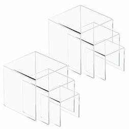 Shaped display stand of Niubee acrylic riser stand three-sta