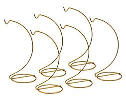 Banberry Designs Gold Ornament Stands - Set of 6 Brass Metal