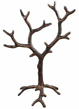 Solid Metal Jewelry Tree Display Stand & Decor Piece - Rusti