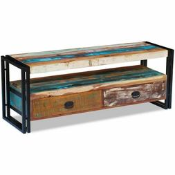vidaXL Solid Reclaimed Wood TV Stand Cabinet Unit Media Ente