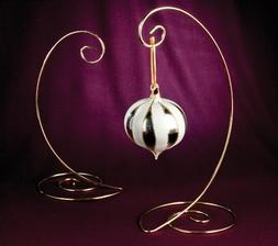 "10"" Spiral Ornament Stand in Brass Finish"
