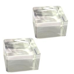 Amlong Crystal Square Crystal Ball Stand, Small , 2 pack