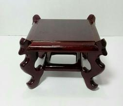 "Square Display Stand - Wood - 4.5"" x 4.5"""