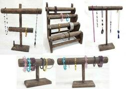 Wooden Jewelry Display Stand Wooden T Bar Necklace Bracelet