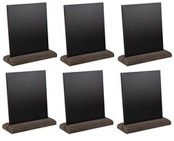 Juvale Tabletop Chalkboard - 6-Pack, 6 x 5.5 Inches, Chalkbo