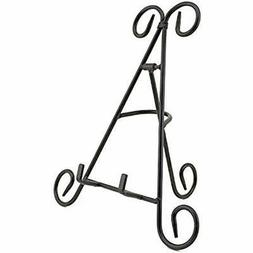 Adorox Tall Black Iron Display Stand Holds Cook Books, Plate