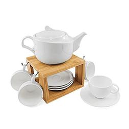 Tea Service Set, , 77L Ceramic Tea Pot , 4-Piece Tea Cups  a