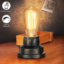 Boncoo Touch Control Table Lamp Vintage Desk Lamp Small Indu