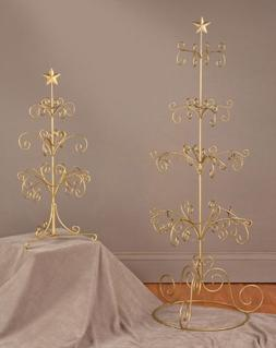 "27""  Tree Display Stand Gold"