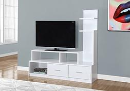 "Monarch Specialities Tv Stand - 60""L / White With A Display"