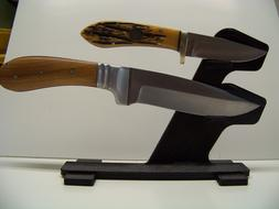 Unique Knife Display Stand for Two Knives Made in the USA !