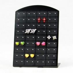 72Holes Earrings Studs Jewelry Show Black Display Stand Orga