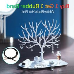 US Deer Tree Jewelry Display Stand Organizer Necklace Earrin