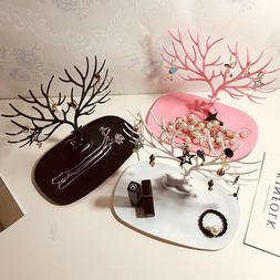 US Jewelry Deer Tree Stand Display Organizer Necklace Ring E