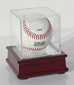 DisplayGifts Pro UV Baseball Display Case Holder and Wooden