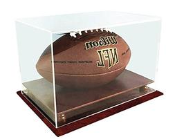 UV Protection Football Display Case Holder, ALL 4 sides visi