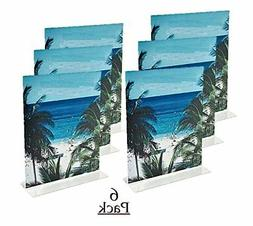 """1InTheOffice Vertical Stand-Up Sign Holder 8.5 x 11 """"6 pack"""""""