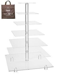 Large 7 Tier Wedding Party Acrylic Glass Cupcake Stand-Cake