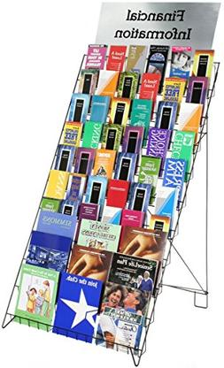 Displays2go Wire Display Rack for Books, Magazines and CDs,