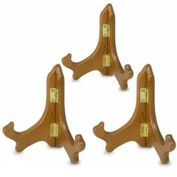 BANBERRY DESIGNS Wood Easels Folding Display Plate Stand Pre