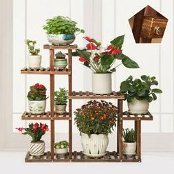 Wood Flower Display Stand 5 Tiers Plant Stands Planter Pot W