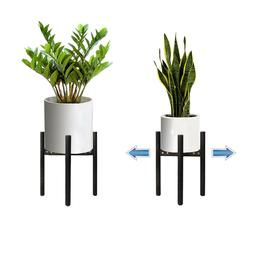 Wood Flower Pot Holder Plant Stand Modern Display Rack Stand