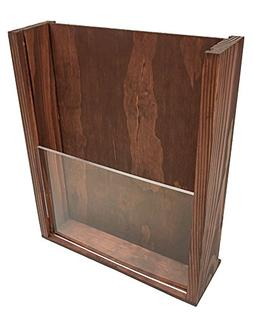 Premium Wood Magazine Display/Brochure Holder - Large Counte