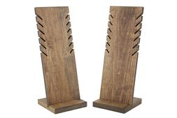 Wood Necklace Display Stand Set of 2 Slotted 14 inch Jewelry