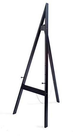 Displays2go Wooden Display Easel with Height-Adjustable Pegs