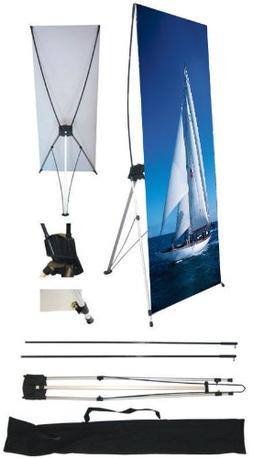 """wall26 24"""" x 63"""" X Banner Stand For Trade Show/Store Display"""