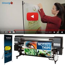 """X Banner Stand Tripod Trade Show Display 24""""x63"""" + Full colo"""